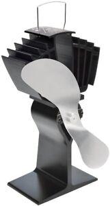 BLACK / SILVER ECO-FAN WOOD BURNING STOVE AIRMAX 812 CAFRAMO HEAT POWERED FAN