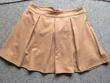 brown DOTTI pleated skirt sz.14 brand new