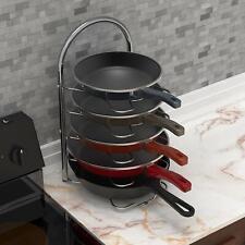 Kitchen Cabinet Pantry Pan and Pot Lid Organizer Rack Holder - Chrome.