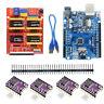 UNO R3 Board for Arduino Compatible + CNC V3 Shield +  4x  DRV8825 Driver
