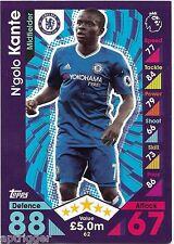2016 / 2017 EPL Match Attax Base Card (62) N'golo KANTE Chelsea