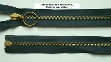 Reißverschluss Metall teilbar Schmuckschieber 90 cm graublau