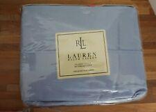 Lauren Ralph Lauren Classic Sheet Flat Queen 350 TC NEW Seaview Blue Supima