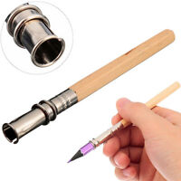 Unique Adjustable Pencil Extender Lengthener Holder Art Writing Tool Wooden R QA