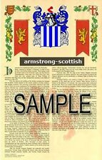 ARMSTRONG Armorial Name History - Coat of Arms - Family Crest GIFT! 11x17
