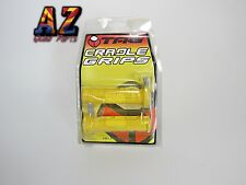 Tag ATV Handlebar Grips Yellow Suzuki LTZ400 Z400 LTR450 LTR 450 King Quad Eiger