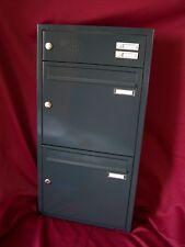 Unterputz Briefkasten anlage Wand Einbau 2er Klingel anthrazit UPH108-7016