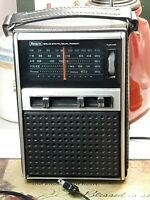 SEARS SOLID STATE/ DUAL POWER RADIO WITH BOOKLET WORKS!