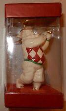 Santa Golfing Lenox Christmas Ornament GOLF