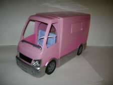 Mattel Barbie Sisters Go Camping Pink Glamour Camper RV Trailer W/ Pop Out Tent