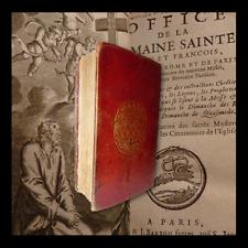 BELLA LEGATURA alle  ARMI - RELIURE OFFICE SEMAINE SAINTE  PARIS 1717 illustrato