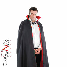Vampire Dracula Cape Cloak Black Red Classic Fancy Dress Costume Outfit New