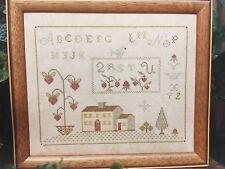 Brightneedle STRAWBERRY HOUSE sampler cross stitch pattern OOP