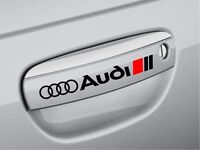 2x Black Premium Door Handle Decals stickers fit all audi models