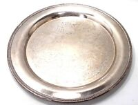 Oneida U.S.A Silver Platter Ornate Etched Design w/ Beaded Edge Large Plate