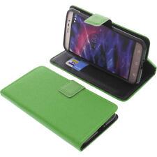 Tasche für MEDION Life P5006 Book-Style Schutz Hülle Handytasche Buch Grün