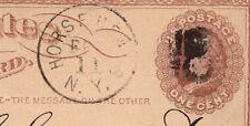 Horse Heads NY 1874 1c Liberty Postal Card Plate Flaws DBL WTMK 3s