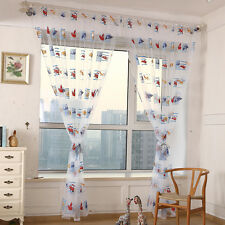 Sheer Curtain Voile Door Window Curtains Car Printing Baby Boy Living Room Decor