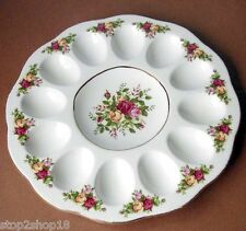 "Royal Albert Old Country Roses Deviled Egg Plate Dish 11.25"" New"