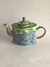 Charlotte Di Vita Miniature Enamel Van Gogh's Irises Teapot Trade + Aid.