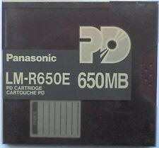"PANASONIC LM-R650E REWRITABLE 5.25"" 650Mb PD CARTRIDGE DISK - USED - D"