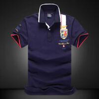 BAPALU Men's Classic T-Shirt Casual Shirts Polo Summer Short Sleeve 100% Cotton