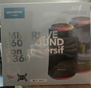 ANKER Flare 2 360 Portable Waterproof Speaker w/ Party Cast A3165011-6 SEALED