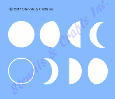 "0.75"" Moon phases mini stencil celestial galaxy template craft pattern paint new"