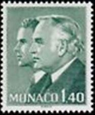 "MONACO STAMP 1281 "" PRINCES RAINIER III ET ALBERT , 1 F 40 VERT "" NEUF xx TTB"