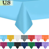 """10pcs 54"""" x 108"""" Rectangle Plastic Tablecloth Table Cover Wedding Birthday Party"""