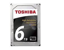 "6TB Toshiba N300 3.5"" NAS HDD,-7200rpm,128MB Cache,Vibration/Thermal Control,DCT"