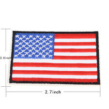 Nation Flagemblem Embroidered Trim Applique National Country Sew/iron on Patchat US Flag