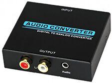 Adattatore CONVERTITORE AUDIO DAC Coassiale Ottico Digitale Toslink ad analogico stereo