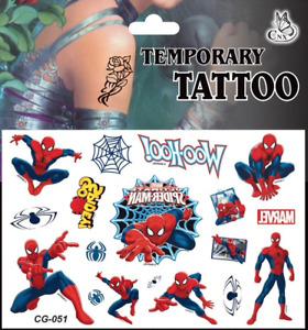1x Tatouage Temporaire Enfant Spider-Man (CG-051)