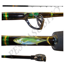 Canna da Pesca al Tonno Rosso Game Rod Tuna Carrucola 30/60 Libbre