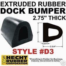 "2-3/4"" x 10' Rubber Impact/Dock/Curb/Cart Bumper D3 (Drilled)"