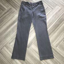 Burberry Womens Gray Straight Legged Dress Pants Size 4 Professional Slacks