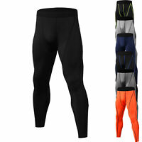 Men Compression Pants Long Gym Running Basketball Training Dri fit Tights Bottom