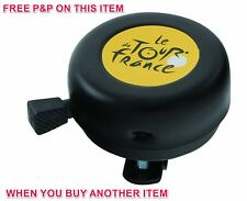 """""""LE TOUR DE FRANCE"""" LIGHTWEIGHT BLACK TRADITIONAL CYCLE BELL THAT FITS MOST BIKE"""