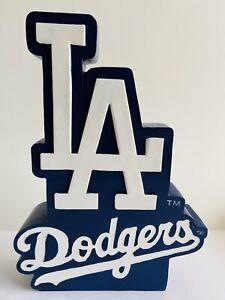 LOS ANGELES DODGERS LOGO DECAL SIGN MLB BASEBALL MAN CAVE LA POLYSTONE STATUE