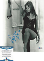 SOPHIA LOREN SIGNED 8x10 MOVIE PHOTO C ITALIAN SEXY ACTRESS BECKETT COA BAS