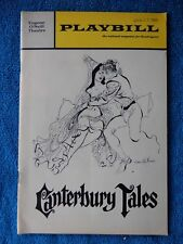 Canterbury Tales - Eugene O'Neill Theatre Playbill w/Ticket - January 25th, 1969