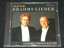 OLAF BÄR & GEOFFREY PARSONS Brahms - Lieder / DDR CD 1989 ETERNA 329233