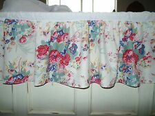 Springs Industries Cal King Bed Skirt Rose Country Beach Floral shabby chic EUC