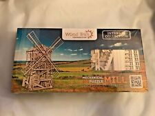 Wood Trick Windmill Wind Mill Mechanical 3D Wooden Puzzles Toy Gears Us Seller