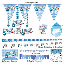 PARTY BOX GEBURT JUNGE # 9 blaue Artikel Baby Neugeboren Fest Dekoration F00230