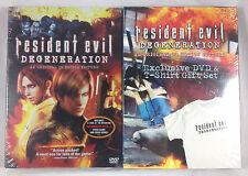 Resident Evil Degeneration DVD & T-Shirt Exclusive Gift Set 2008 Video Game Film