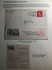 1940 Amsterdam Netherland Typewriter Postcard Advertising Cover To New York Usa
