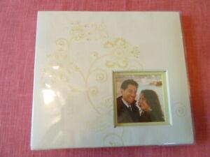 "White Decorative Photo Album w/Your Picture Insert Pocket,10""x8.5"""
