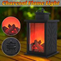 LED Fireplace Log Lantern Flicker Battery Flame Effect Home Decoration Light